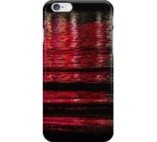 Abstract Red Water iPhone Case/Skin