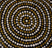 bugaran (a dry well) bu Australian Aboriginal artist David Williams by aboriginalart