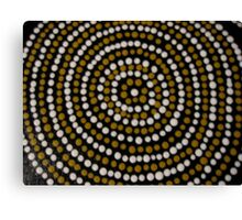 bugaran (a dry well) bu Australian Aboriginal artist David Williams Canvas Print