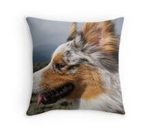 Piper in the Wind Throw Pillow