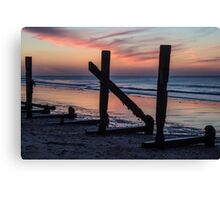 Sea Wall Sunset Canvas Print