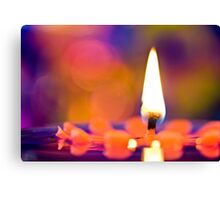 CANDLES & COLORS  Canvas Print