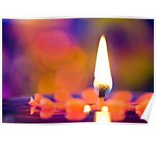 CANDLES & COLORS  Poster