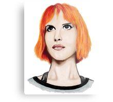Hayley Williams Portrait  Metal Print