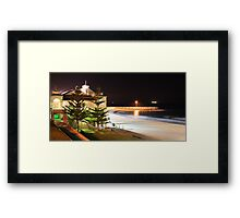 Indiana Tea Rooms by Night Framed Print