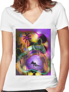 My hat of colors Women's Fitted V-Neck T-Shirt