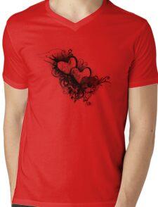 Two hearts Mens V-Neck T-Shirt