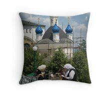 The Ladies of Pochaiv Monastery Throw Pillow