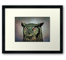 Owl - Red Eyes Framed Print