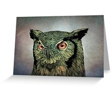 Owl - Red Eyes Greeting Card