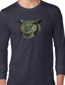 Owl - Red Eyes Long Sleeve T-Shirt