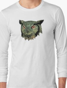Owl - Red Eyes Long Sleeve T-Shirt