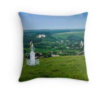 Approach to the Village of Budaniv, Ukraine Throw Pillow