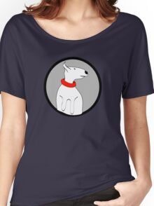 ENGLISH BULL TERRIER CUTE PORTRAIT Women's Relaxed Fit T-Shirt