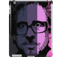 Tim Burton in stripy background! iPad Case/Skin