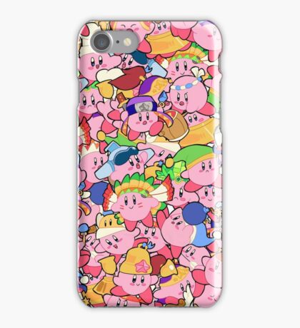 Kirby Patterns  iPhone Case/Skin