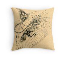 Biomechanical Bird Throw Pillow