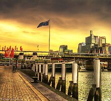Darling Harbour Sunset - HDR by Michael Patsalou