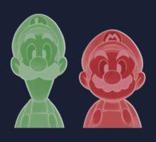 Mario and Luigi One Piece - Long Sleeve