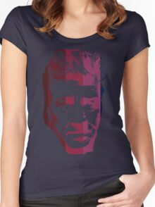 David Lynch in stripes Women's Fitted Scoop T-Shirt
