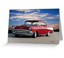 1957 Chevrolet Bel Air Hardtop Greeting Card