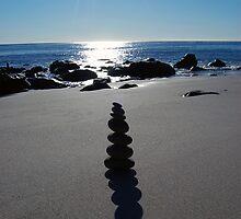 Stone Silhouette, Shadow & Sun by tom j deters