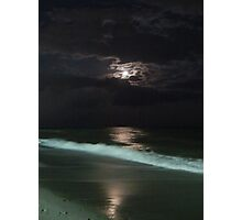cloudy moonlit sky Photographic Print