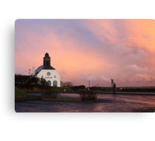 pink calm after the storm Canvas Print