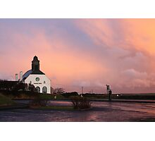 pink calm after the storm Photographic Print