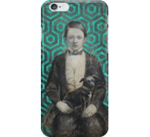 Boy with a dog iPhone Case/Skin