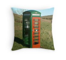 Not your ordinary telephone box Throw Pillow
