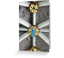 Detail of the ceiling (Exeter cathedral) Greeting Card
