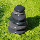 Black Stack on Green by tom j deters