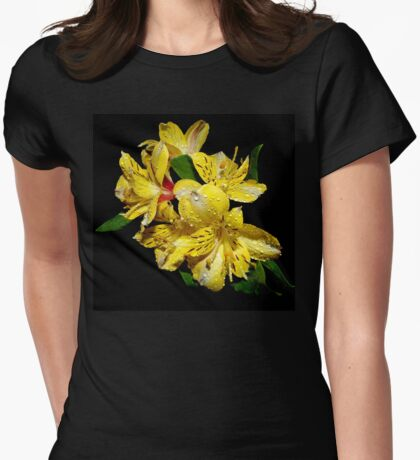 yellow glow Womens Fitted T-Shirt