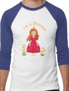 Little girl Princess Men's Baseball ¾ T-Shirt