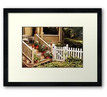 Rutherford, NJ - My Grandmother's Garden  Framed Print