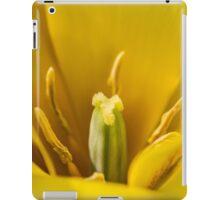 Macro Yellow Tulip Flower iPad Case/Skin