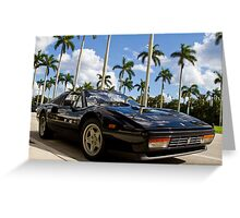 Bright Sports Car on a Sunny Day in Miami Greeting Card