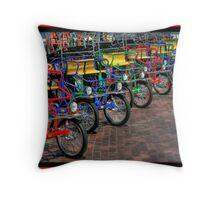 Fun Rental Ride Throw Pillow