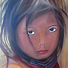 Girl from the Amazonas, Oil Painting by Esperanza Gallego
