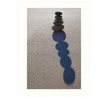 Five Round Stone Stack & Shadow  Art Print