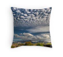 Cotton Ball Sky Throw Pillow