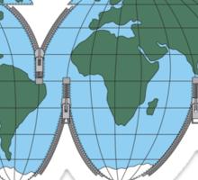 Unzipped World Sticker