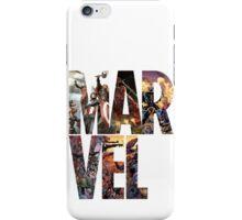Marvel Logo w/Comic background iPhone Case/Skin