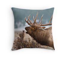 Bull In Profile Throw Pillow