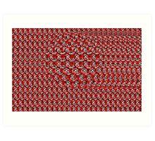 3D Stereogram Magic Eye Ball Art Print