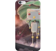 Robot in Space iPhone Case/Skin