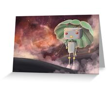 Robot in Space Greeting Card