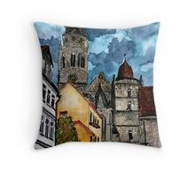 Coburg Germany watercolour painting Throw Pillow