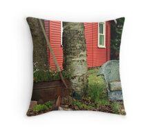 backyard decorations Throw Pillow